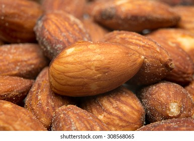 Background from of almond nuts
