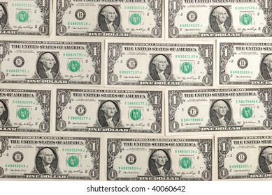 background with american One  Dollar