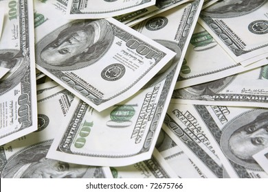a background with american one hundred dollars