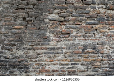 Background of ancient brick wall texture.