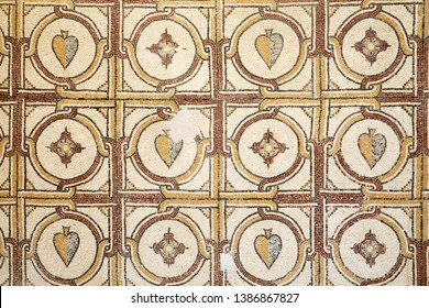 Background of ancient mosaics of Mount Nebo, Jordan