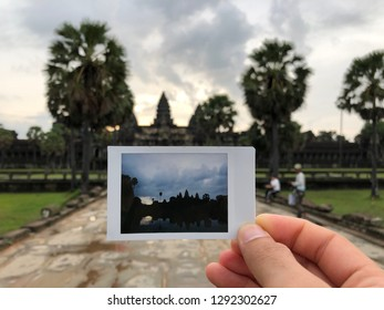 The background Ankor Wat in picture view, Siem Reap, Cambodia