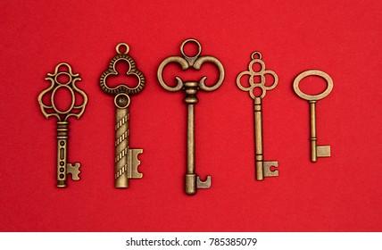 Background of Antique Skeleton Keys