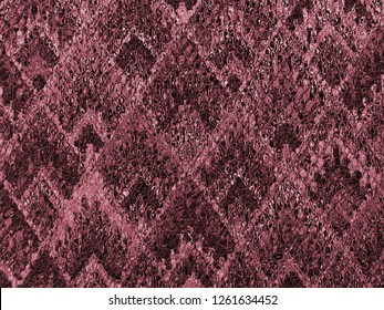 background of Asian traditional pattern glassy in red pink color, colorful layer of  trapezoid mosaic pattern background