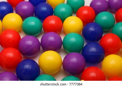 Background of ball pit balls