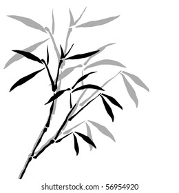 background with bamboo branches