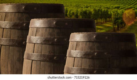 Background of barrel wood, background, wine, bordeaux wineyard