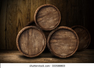 background of barrels