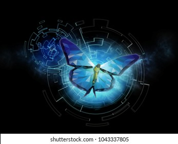 Background of beautiful abstract Business transformation innovation. Change from to high technology like butterfly life cycle. to imply with success future business growth concept or other transform
