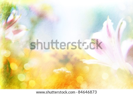 Background Beautiful Pencil Drawn Flowers Made Stock Photo Edit Now