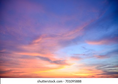The background of beautiful sky, colorful of sky.