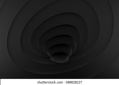 Background black abstract curve background 3D Rendering