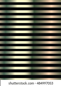 Background of black lines and metalized. Pattern background with black horizontal lines and a yellowish, greenish and reddish in tone metallic gradient.