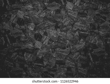 background of black stone wall pattern for exterior
