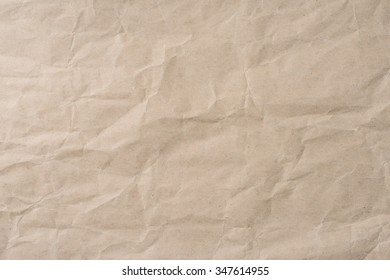 Background of blank brown wrinkled paper texture