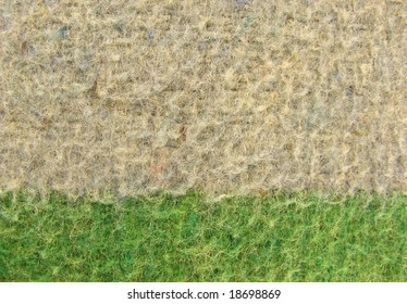 Background of a blanket texture detail, fabric, green and grey