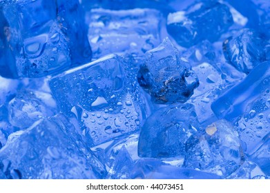 Background with blue cube ice