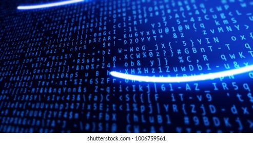 Background blue with data and concepts tech and lights perspective modern