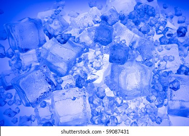 Background with blue ice cube