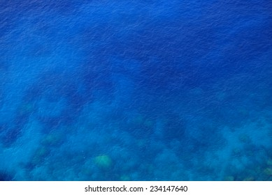 Background of the blue sea
