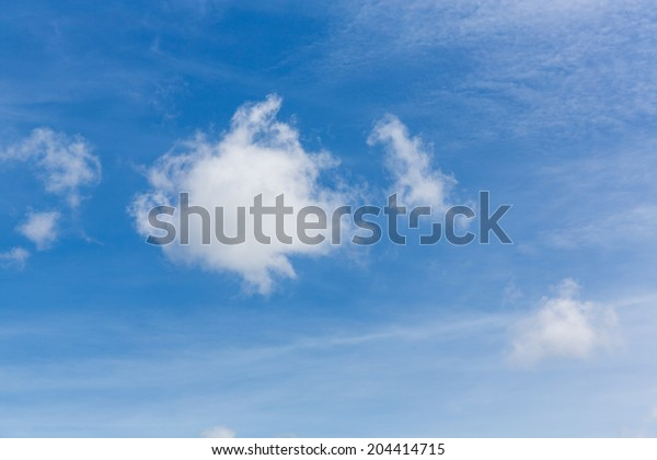 The background of blue sky with cloud