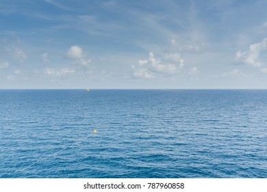 Background blue sky and cloud over nice sea