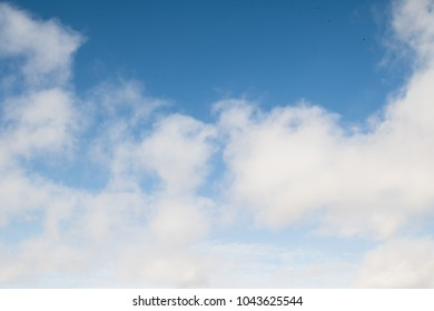background of blue sky with white clouds