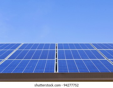 background of Blue solar panels