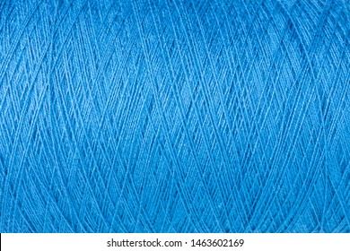 background of blue wool on a cone