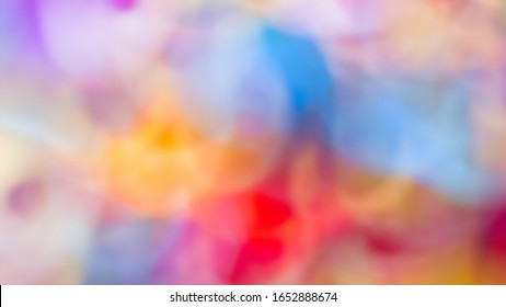 Background blur abstract with color variations of red, blue, purple, yellow and orange shapes