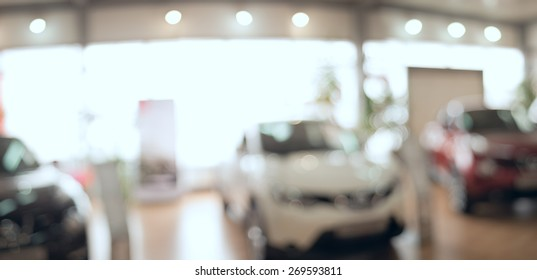 background blur car showroom