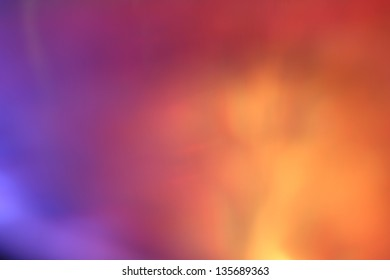Background blur with colored reflection