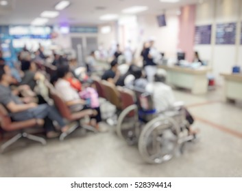 Background blur the number of patients waiting for treatment in hospital due to bad weather. People get sick easily.The nurse is on healthcare services.
