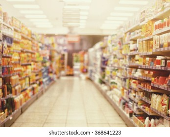 background blur of Supermarket