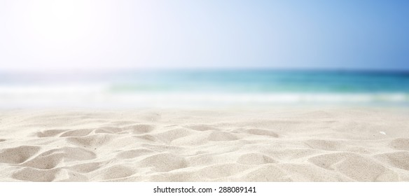 background of blurred sea and sky