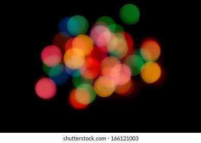 Background with bokeh defocused light