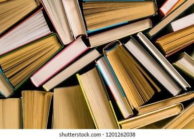 Background of books. The concept of reading.