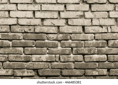 Background brick wall black and white, street, bricklaying