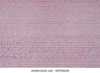 Background of brick wall texture, facade, pink colored