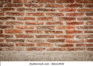 Background of brick wall texture with vintage tone