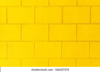 Background of brick wall Yellow texture
