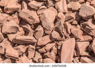 background of broken flower clay pots