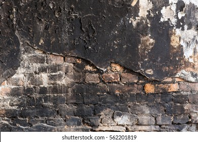 background burnt wall