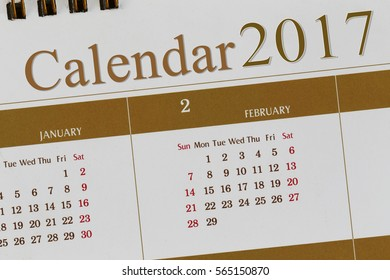 Background of Calendar 2017 for Design and Presentation.