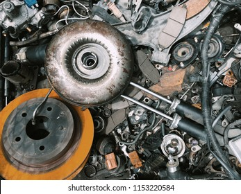 Background of car spare parts
