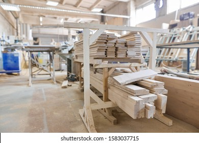 Background carpentry woodworking woodshop, machines and tools, wooden boards, furniture details
