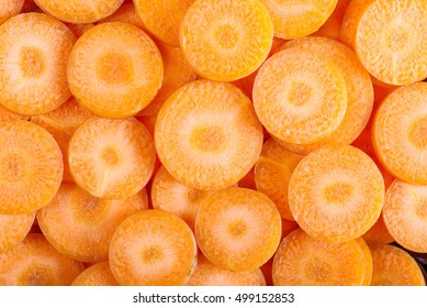 background of carrot slices.