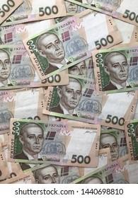 background of cash bills of Ukrainian national currency