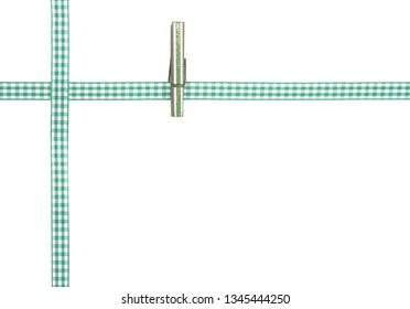 Background with checkered ribbon