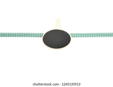 Background with checkered ribbon and board